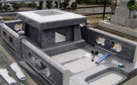 4.石塔建てつけ工事